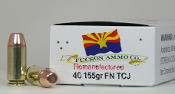 "40S&W 155gr.FP,TCJ.""CUBE"" Remanufactured Ammo."